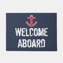 Nautical Boat Welcome Aboard Doormat Mat Rug Gift