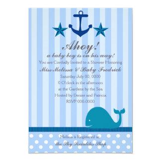 Nautical Boy 5x7 Paper Invitation Card
