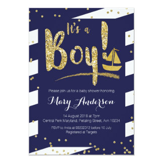 Nautical Boy Baby Shower Invitation