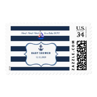 Nautical Boy Baby Shower Postage Stamp