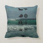 nautical boys throw pillow
