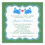 Nautical Bridal Shower Blue/Green Invitation