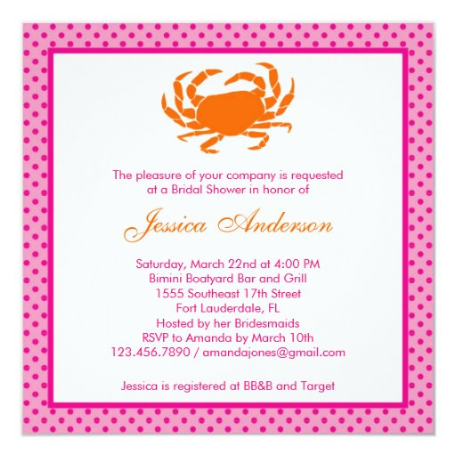 Nautical Bridal Shower Invitation