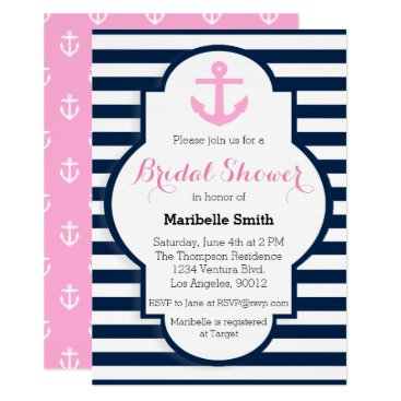 Beach Themed Nautical Bridal Shower Invitation