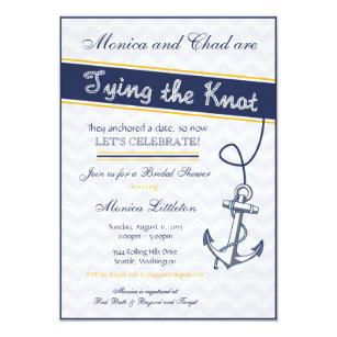 Beach bridal shower invitations announcements zazzle nautical bridal shower invitation beach anchor filmwisefo