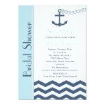 Nautical Bridal Shower Invitation, Blue Cards
