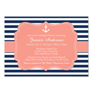 Nautical Bridal Shower or Baby Shower Invitation