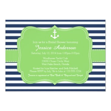 Beach Themed Nautical Bridal Shower or Baby Shower Invitation
