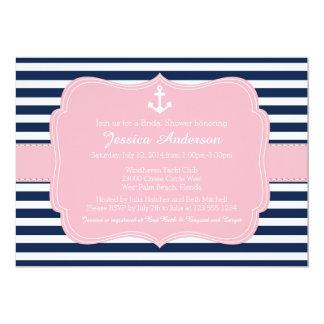 Nautical Bridal Shower or Baby Shower Invitation