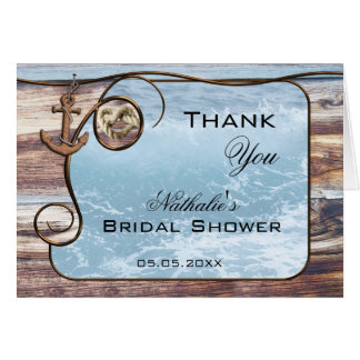 Nautical Bridal Shower Thank You Card