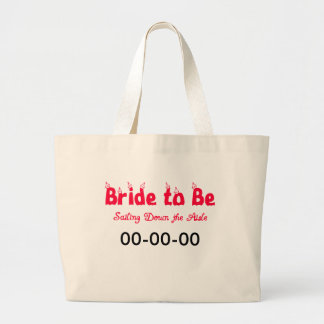 Nautical Bride-to-Be Large Tote Bag