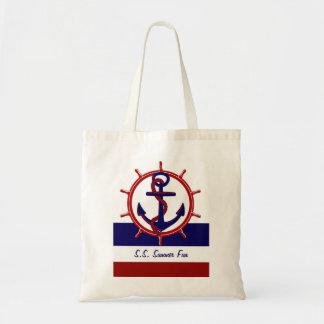 Nautical Budget Tote Bag