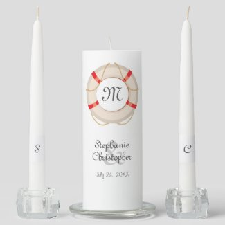 Nautical Buoy Wedding Unity Candle Set