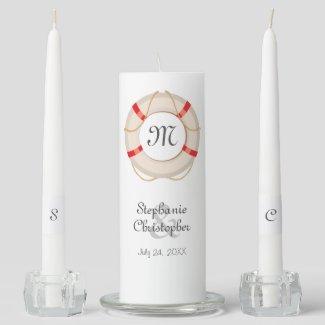 Nautical Buoy Wedding Unity Candle Set