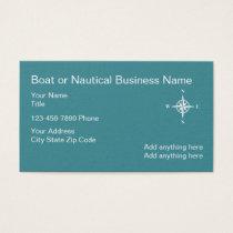 Nautical Business Card Compass