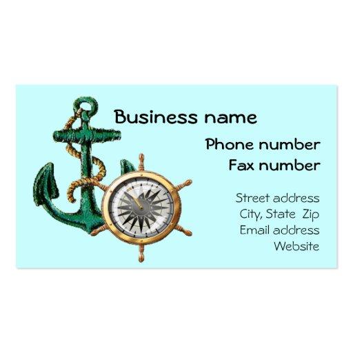 Nautical Business Card Template