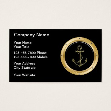 Wedding Themed Nautical Business Cards