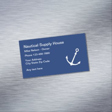 Beach Themed Nautical Business Profile Magnetic Business Card