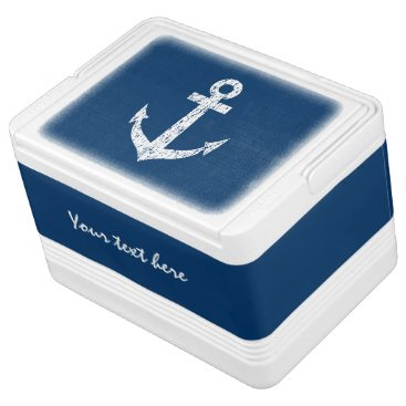 logotees Nautical can cooler box with boat anchor design