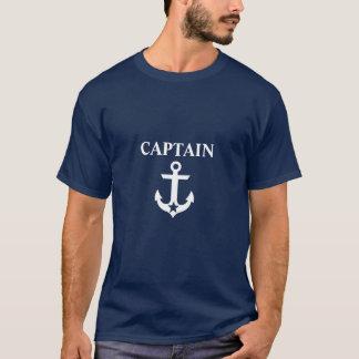Nautical Captain Anchor Star Blue T-Shirt