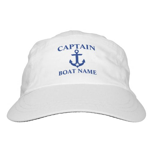 Nautical Captain Boat Name Anchor Star Hat
