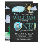 Hand shaped Nautical Captain First Birthday Party Invitation
