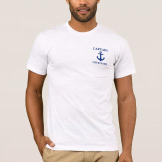 Nautical Captain Name Anchor T-Shirt