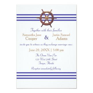 Nautical Captain's Wheel - Wedding Invitation