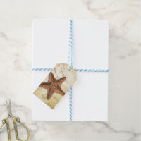 Nautical Caribbean Starfish Rustic Gift Tags