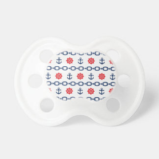 Nautical Chain in Red, White, & Blue BooginHead Pacifier