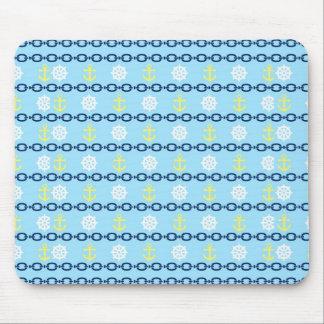 Nautical Chain Mouse Pad