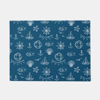 Nautical Chalk Drawing Pattern 2 Doormat