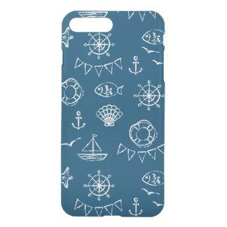 Nautical Chalk Drawing Pattern 2 iPhone 8 Plus/7 Plus Case
