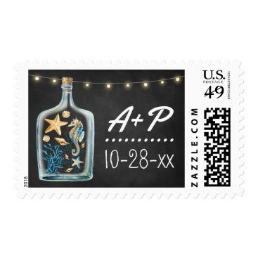 Beach Themed Nautical Chalkboard Starfish Wedding Stamps