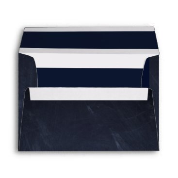 Beach Themed Nautical chalkboard & stripes envelope