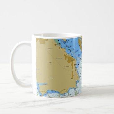 USA Themed Nautical Chart Coffee Mug
