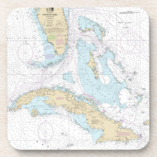 nautical chart for S florida and Cuba coasters. Coaster