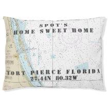 Nautical Chart Fort Pierce Florida Pet's Name Pet Bed