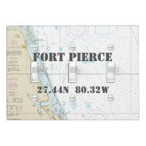Nautical Chart Latitude Longitude: Fort Pierce, FL Light Switch Cover