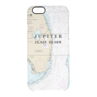 Nautical Chart Latitude Longitude Jupiter, Florida iPhone 7 Plus Case