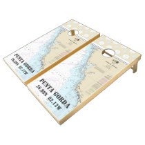 Nautical Chart Latitude Longitude: Punta Gorda FL Cornhole Set