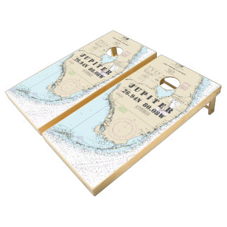 Nautical Chart Latitude Longitude: South Florida Cornhole Set