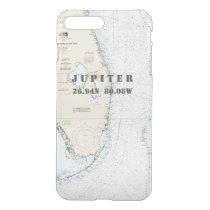 Nautical Chart Latitude Longitude South Florida iPhone 7 Plus Case