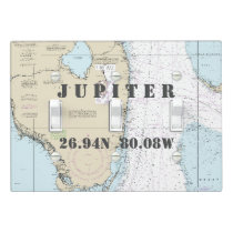 Nautical Chart Latitude Longitude South Florida Light Switch Cover