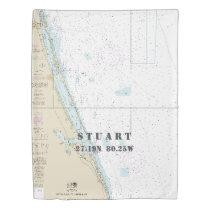 Nautical Chart Latitude Longitude: Stuart FL TWIN Duvet Cover