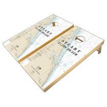 Nautical Chart Latitude Longitude: Stuart Florida Cornhole Set
