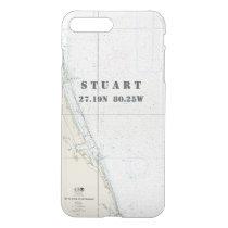 Nautical Chart Latitude Longitude: Stuart, Florida iPhone 7 Plus Case
