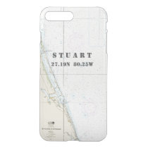 Nautical Chart Latitude Longitude: Stuart, Florida iPhone 8 Plus/7 Plus Case