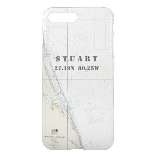 Nautical Chart Latitude Longitude: Stuart, Florida iPhone 8 Plus/7 Plus Case