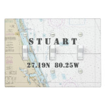 Nautical Chart Latitude Longitude: Stuart, Florida Light Switch Cover